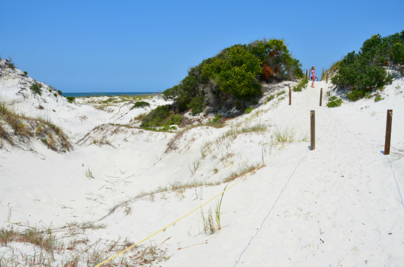 Majestic sand dunes at St. Joseph Peninsula State Park in Cape San Blas