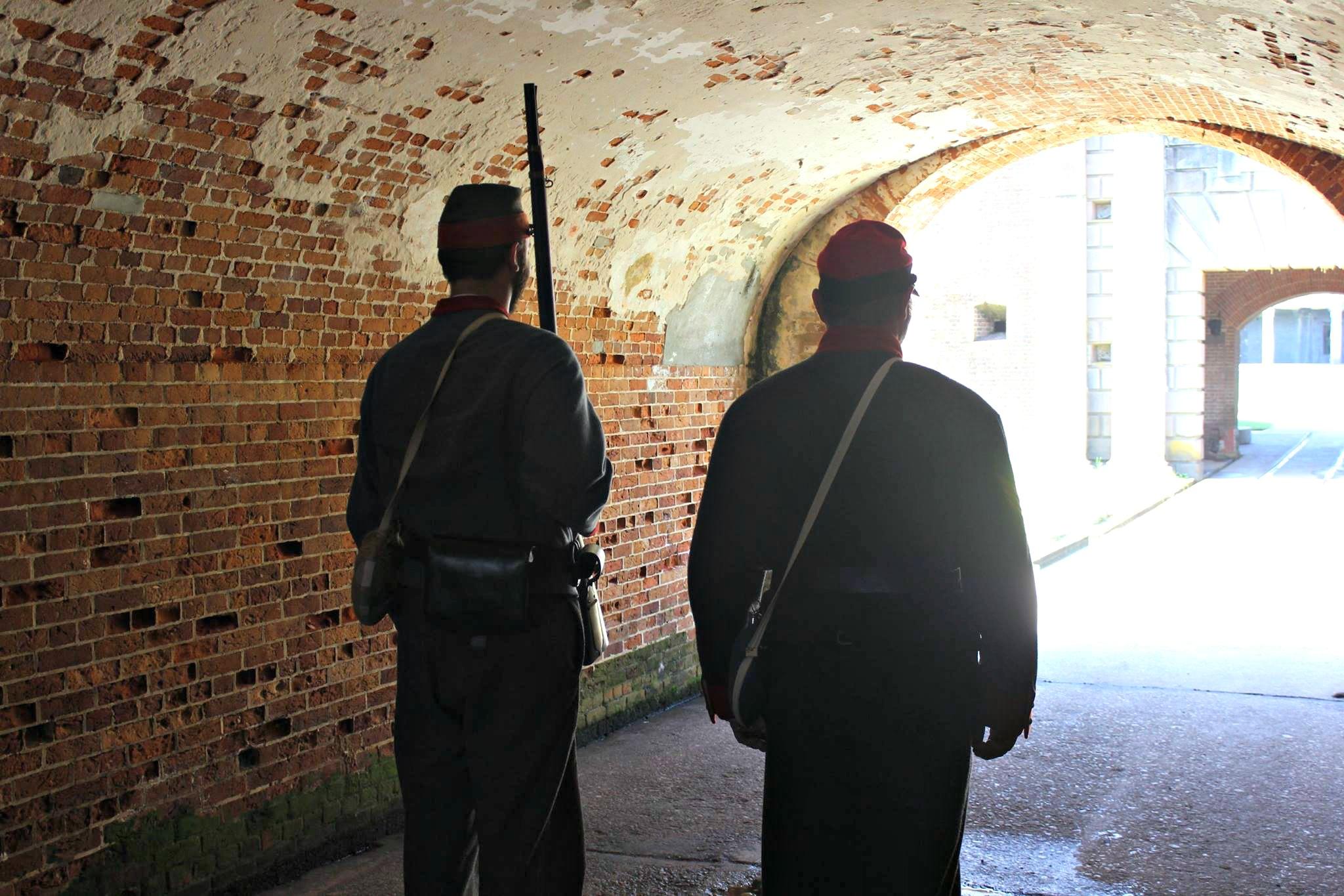 fort morgan civil war re-enactors gulf shores alabama