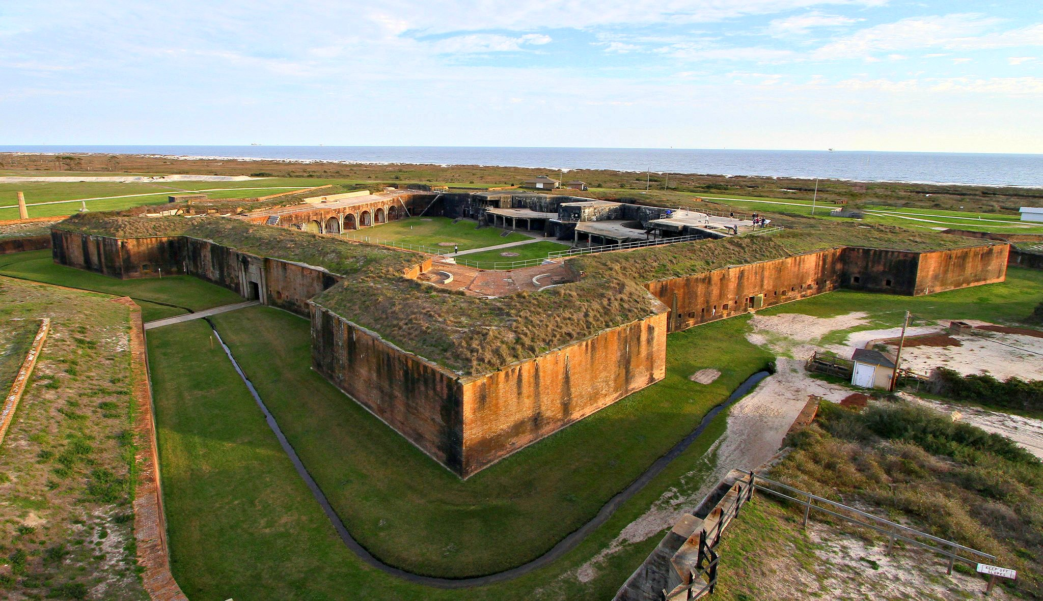 fort morgan from above