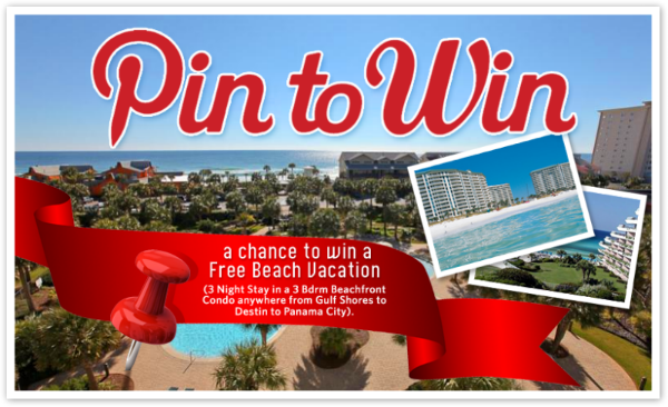 Pin To Win contest on BeachGuide.com