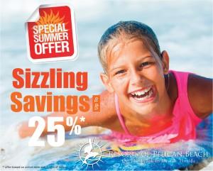 Special Summer Offer 25% Savings at Pelican Beach Resort