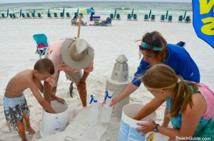 How to start building a beach sandcastle