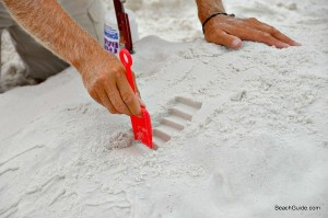 how to make steps for a beach sandcastle