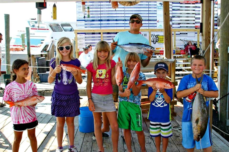 destin fishing rodeo kids' catch