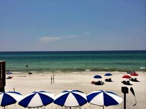 gulf coast jam panama city beach scene umbrellas