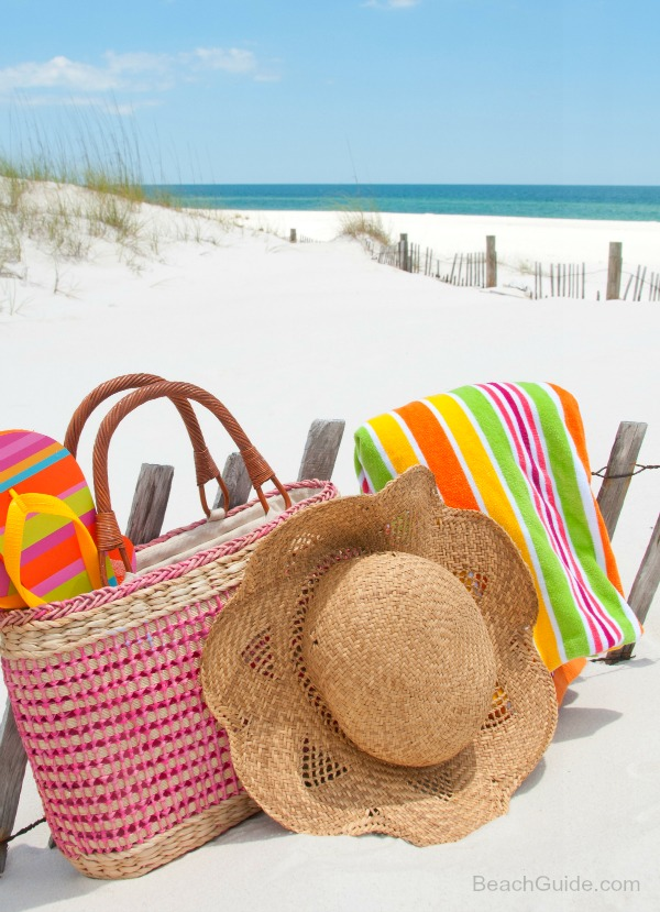 Pack the perfect beach bag to ensure a relaxing day at the beach.