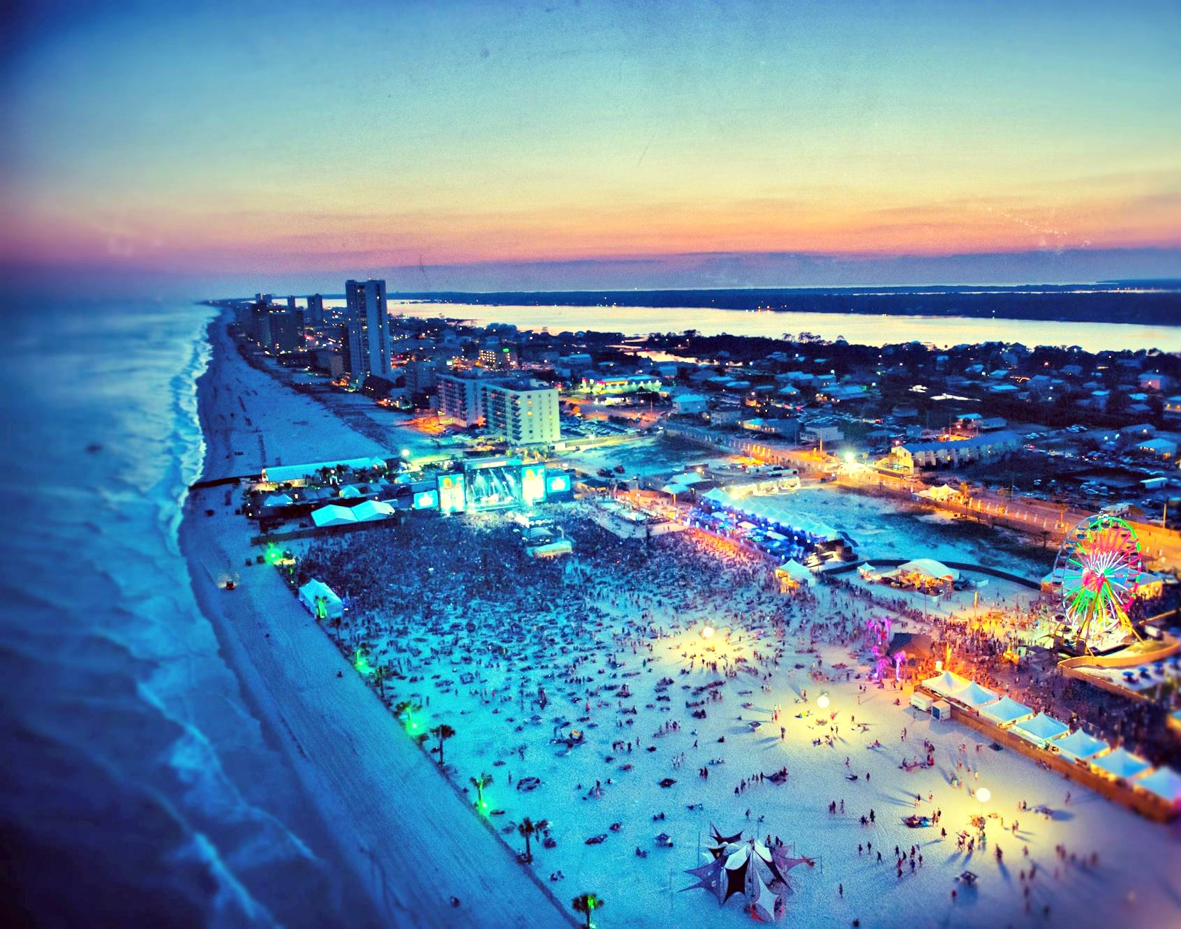 Hangout Music Festival on the beach in Gulf Shores AL
