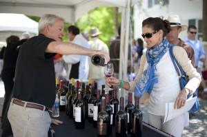 Sandestin Wine Festival guest tasting wine