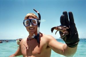 Crab found snorkeling by Destin jetties