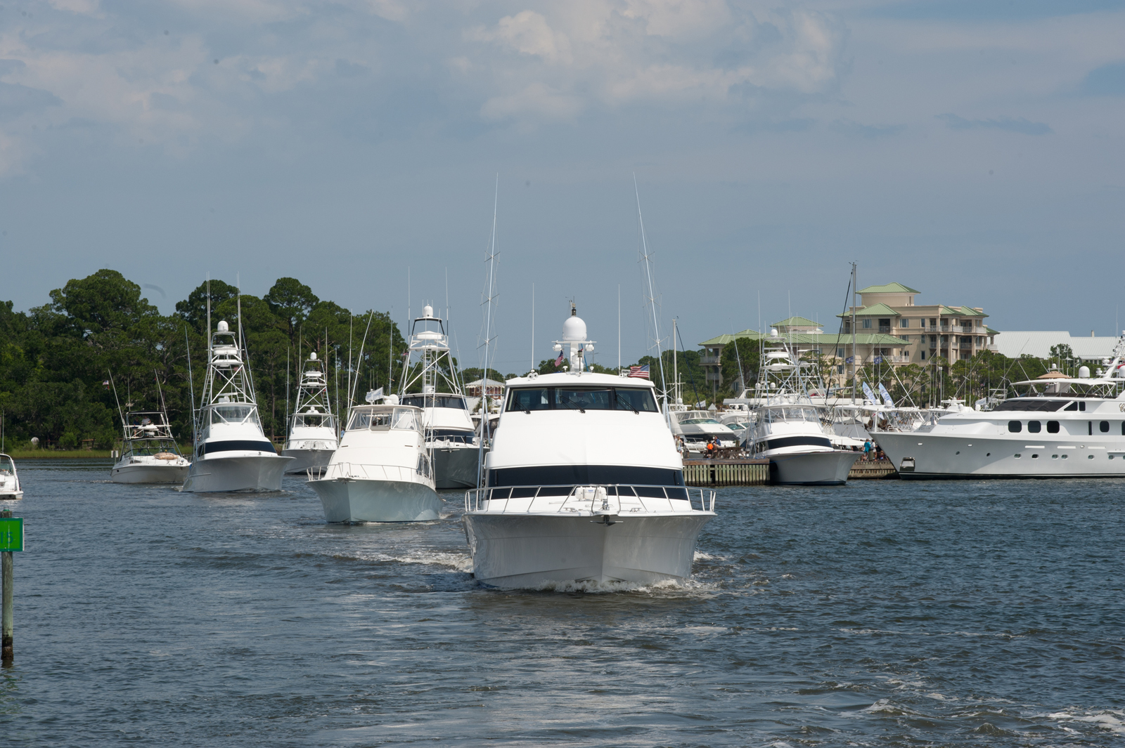 Boats at the Emerald Coast Blue Marlin Classic