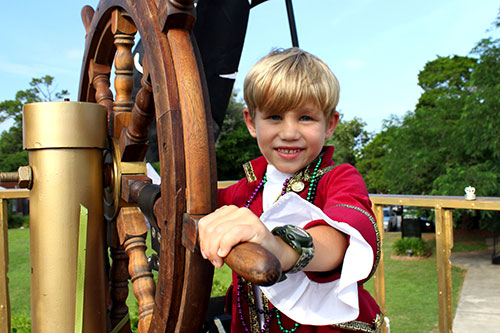 Blond boy pirate at Billy Bowlegs Festival in Fort Walton