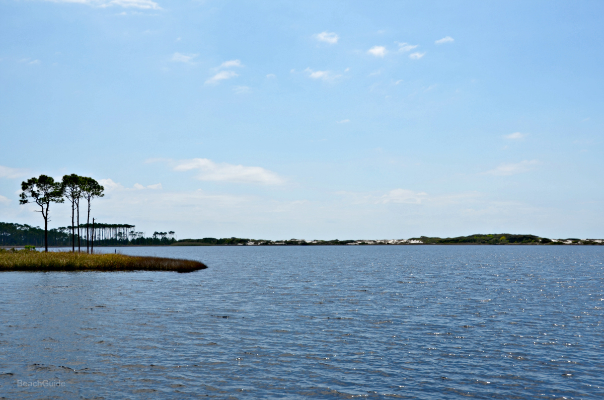 Western lake on Hwy 30a, one of the rare coastal dune lakes in South Walton County.