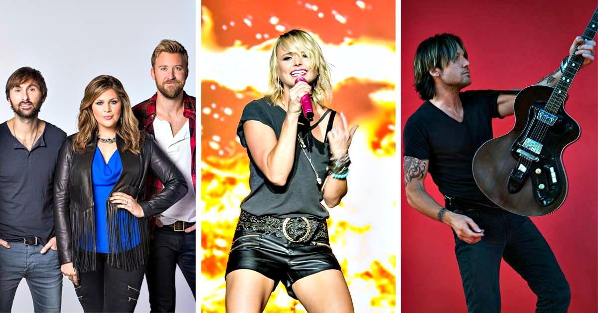 Gulf Coast Ja, 2015 headliners Lady Antebellum, Miranda Lambert, and Keith Urban