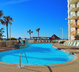 Beachfront pool at Pelican Beach Resort in Destin, Florida