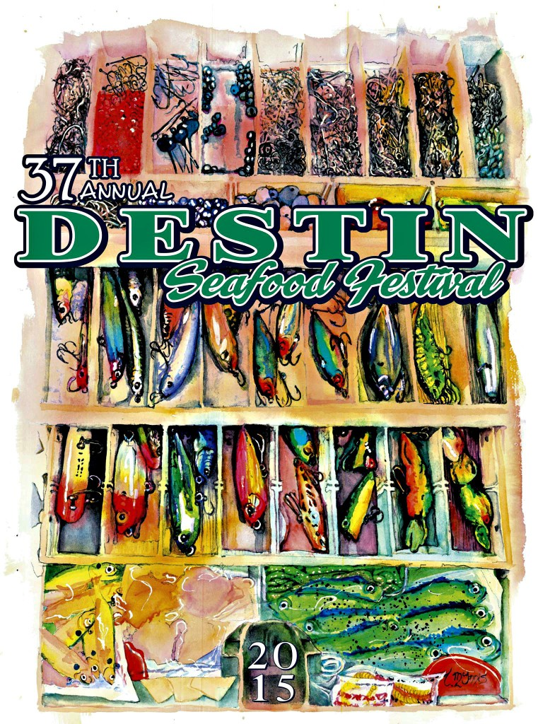 Destin Seafood Festival 2015 official poster