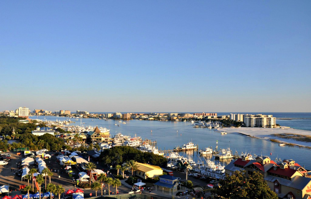 Destin Harbor during the annual Destin Seafood Festival, which takes place on the Boardwalk