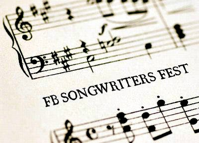 FB Songwriters Festival bars of music on white paper