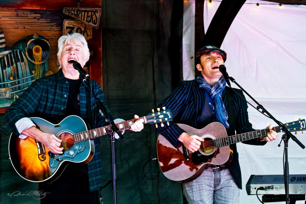 Graham Nash and Chris Stills performa at the 2015 30A Songwriters Festival.