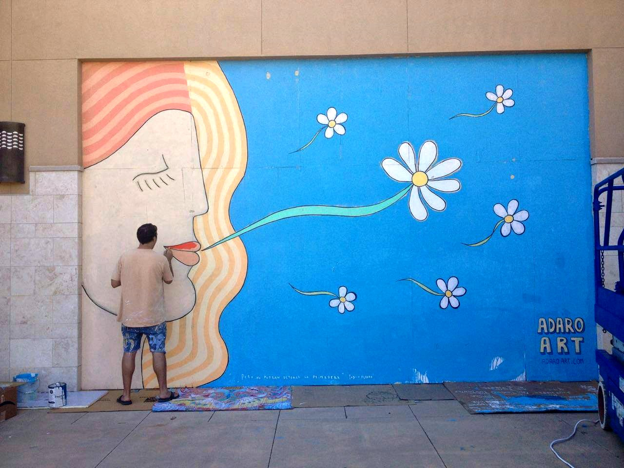 ArtsQuest artist painting outdoor mural