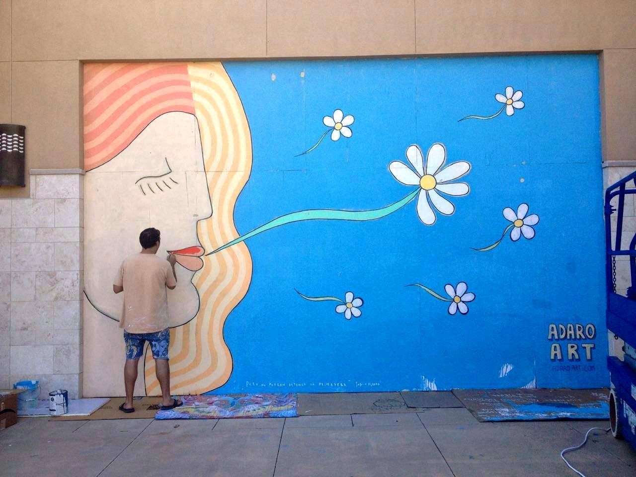 ArtsQuest artist painting outdoor mural