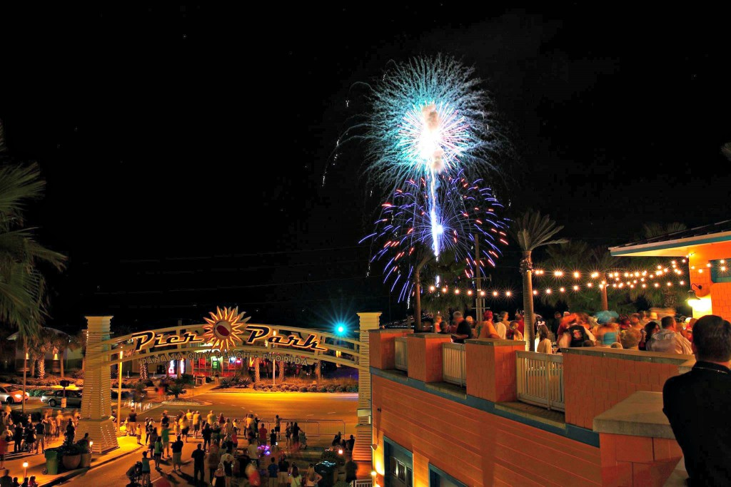 Fireworks light up the night over Pier Park in Panama City Beach.