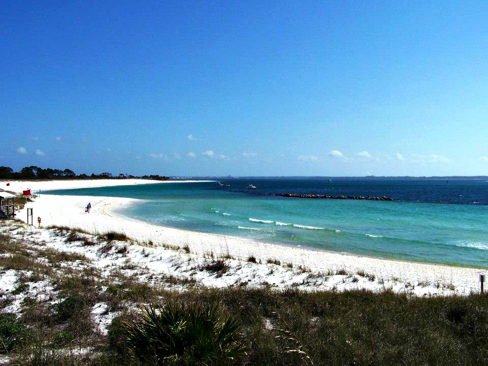 Beach and dunes at St. Andrews State Park in Panama City Beach