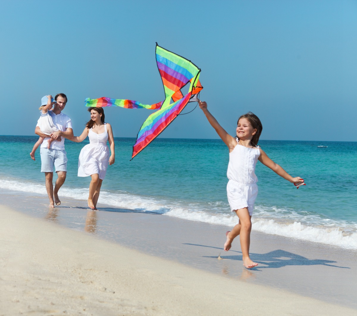 Flying kites is fun for the whole family