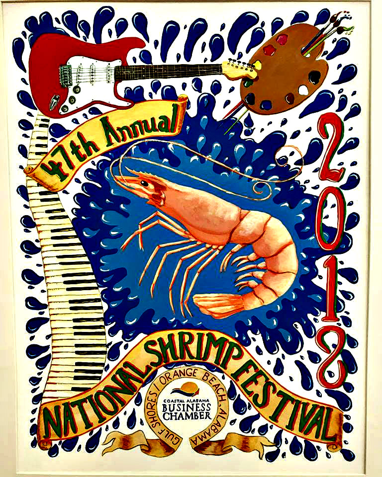 National Shrimp Festival Gulf Shores 2018 poster