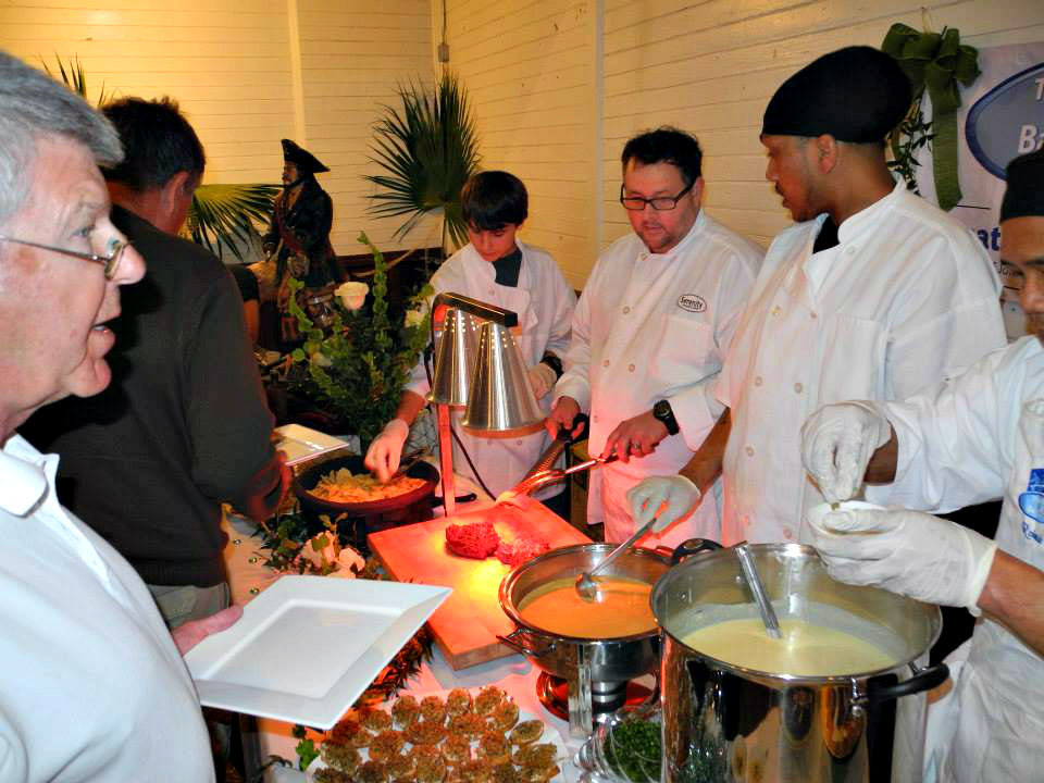 Local chefs serve guests at the annual Forgotten Coast Chefs Sampler.