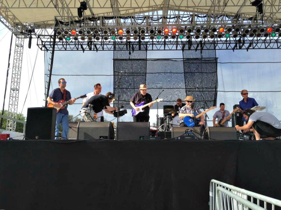 Daytime band performance at Tampa Bay Blues Festival