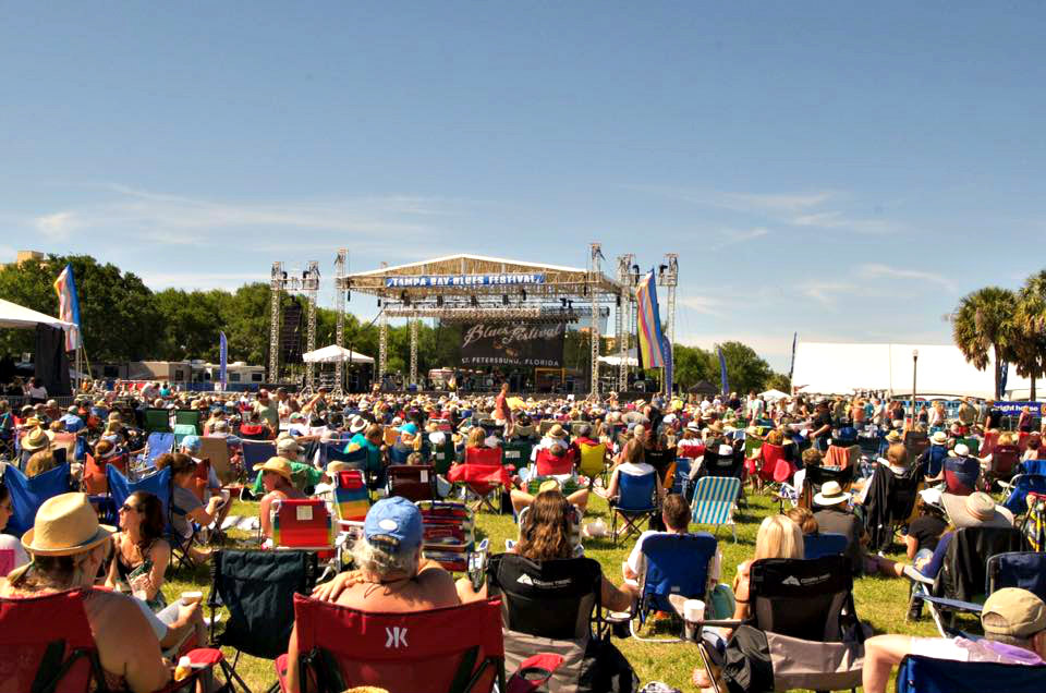 The Tampa By Blues Festival always draws a crowd.