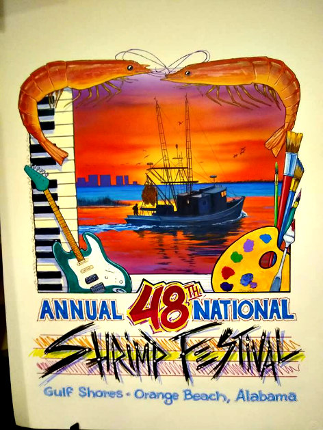 National Shrimp Festival 2019 poster
