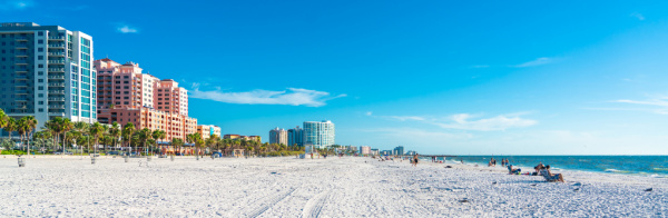 Clearwater Beach, Florida white sand beach
