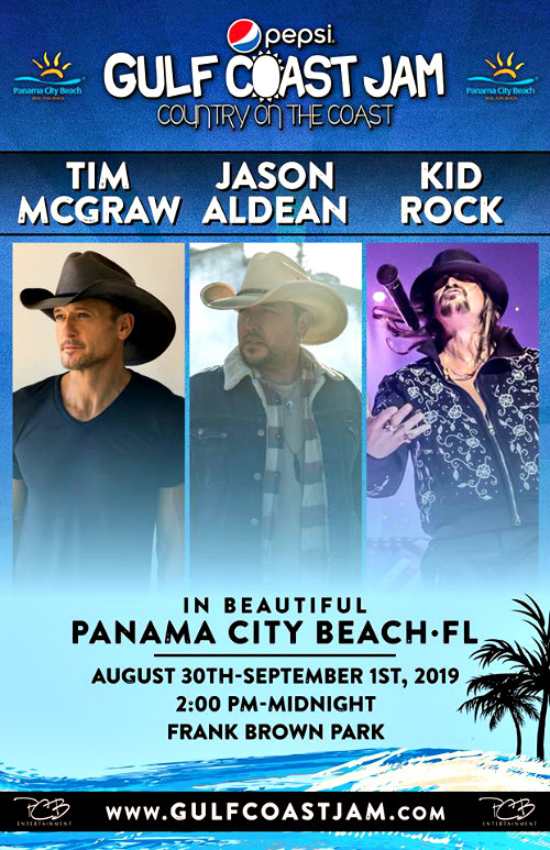 Pepsi Gulf Coast Jam 2019 headliners poster
