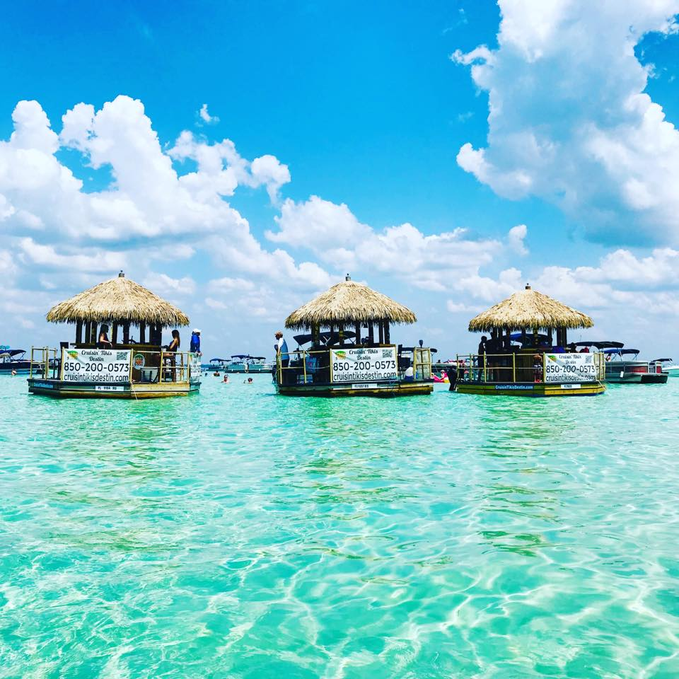 Tiki Cruises are one way to get to Crab Island.