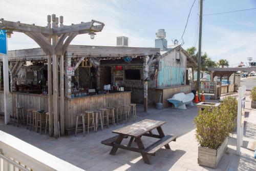 The Boathouse bar and restaurant on Destin Harbor, an iconic bar on the Gulf Coast..